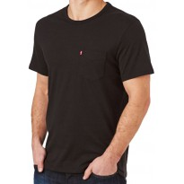 Tee Shirt Levis Pocket Noir