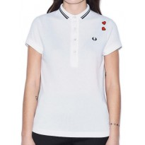Polo Fred Perry Femme Blanc Amy Winehouse