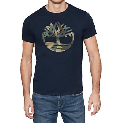 Timberland BRAND TREE - T-shirt imprimé - blue/grey Site Officiel Vente En Ligne Remises En Ligne Escompte Bonne Vente Vente Footlocker MnPB5