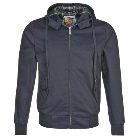 Blouson Harrington Capuche Marine Original