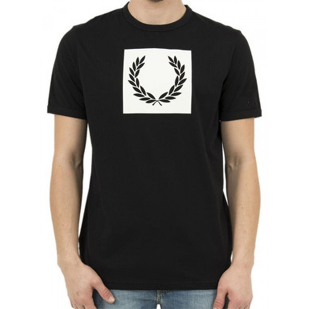 Tee Shirt Fred Perry M3601 Laurel Black
