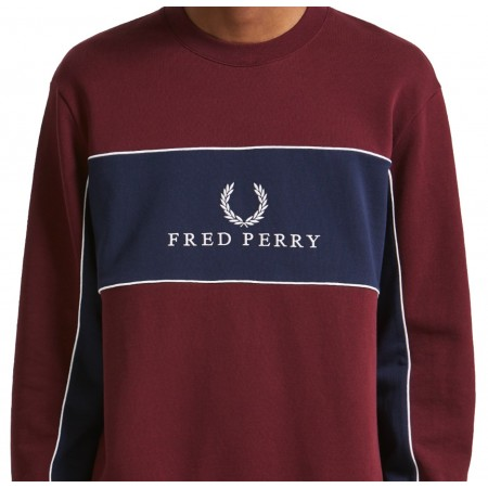 Sweatshirt Sports Authentic FRED PERRY bordeaux