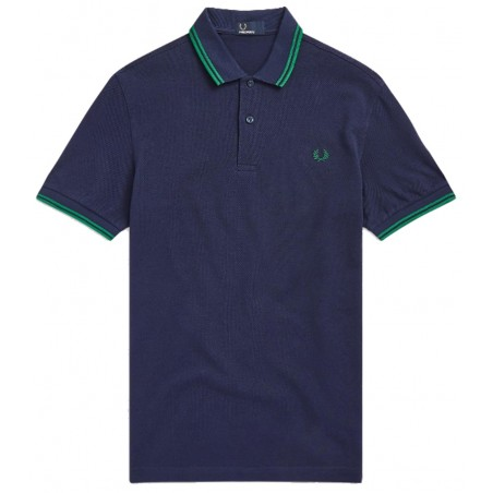 Polo Fred Perry M3600 Fit marine bandes verte