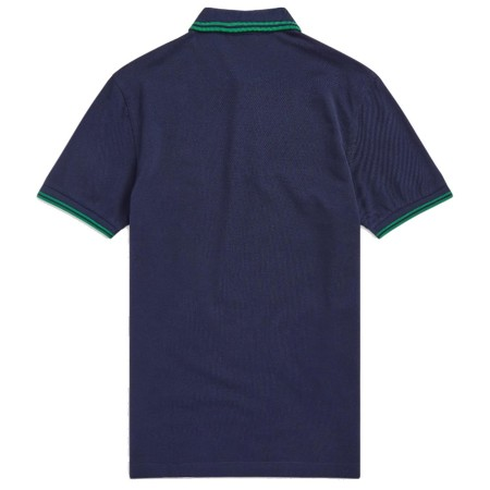 Polo Fred Perry M3600  Fit marine bandes et verte
