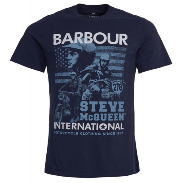 Tee Shirt BARBOUR International Steve McQueen Collage