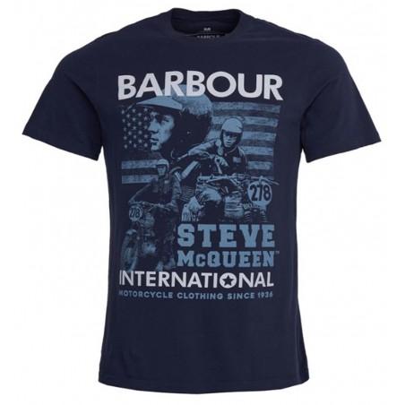 Tee Shirt BARBOUR International Steve McQueen Collage