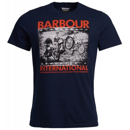 Tee Shirt BARBOUR International Steve McQueen Biker