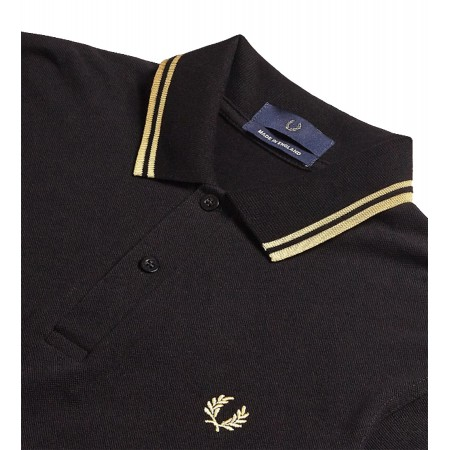 Polo Fred Perry M12 Made in England Black Champagne