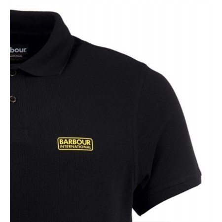 Polo Barbour International Piqué Noir