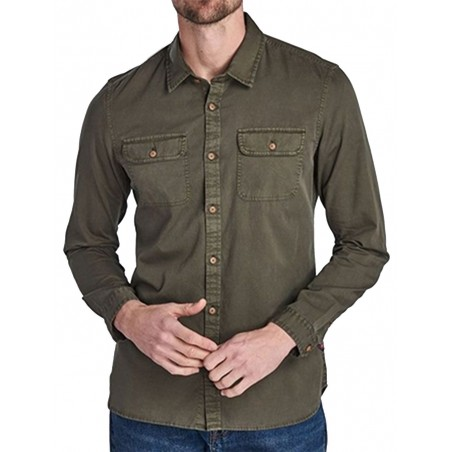 Chemise Barbour International SMQ HENRI OLIVE