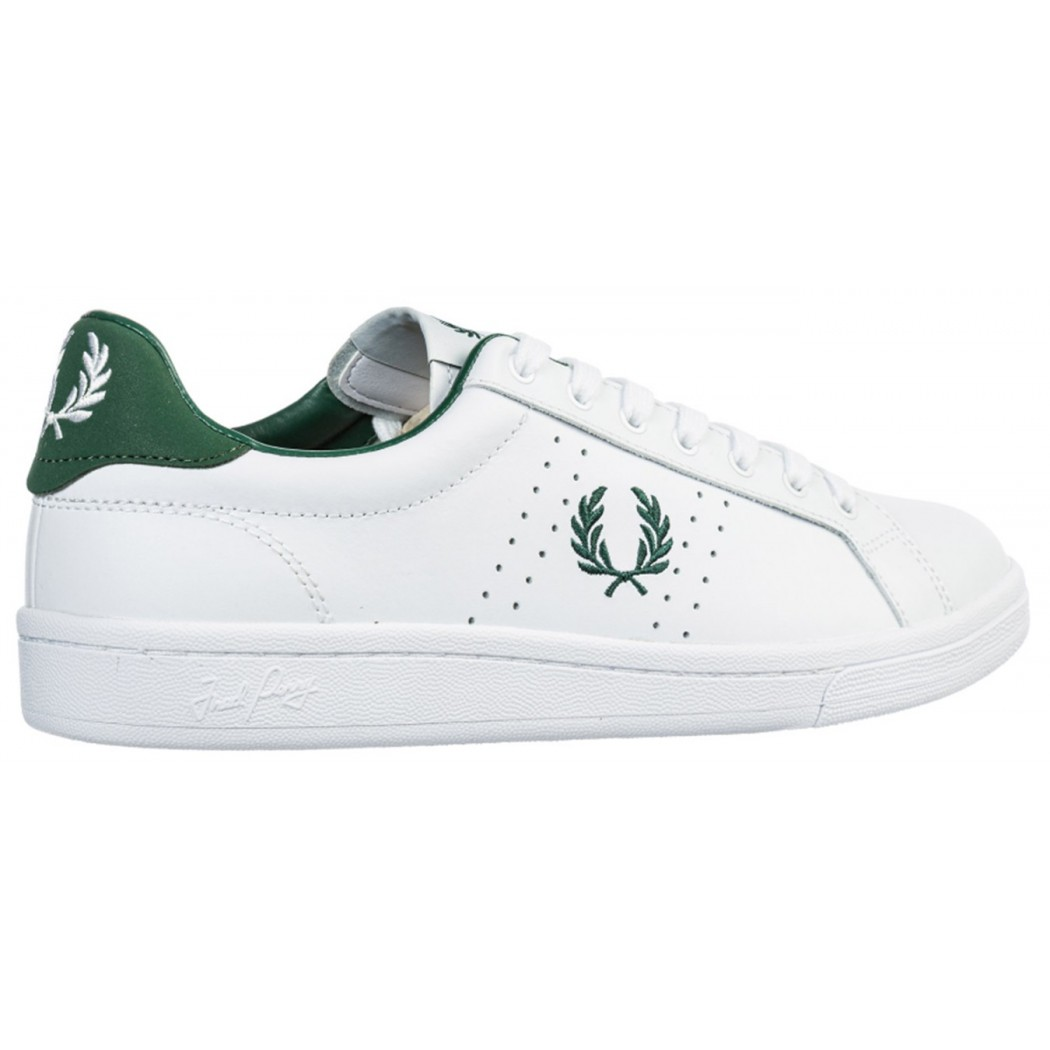 Baskets Fred Perry B8321 Leather White