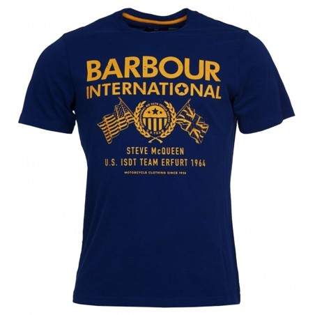 Tee Shirt Barbour International Steve Mc Queen Race Flags