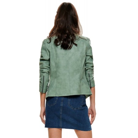 Perfecto simili cuir Only Vert