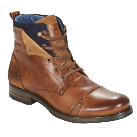 Boots Redskins Yedes Cuir Cognac