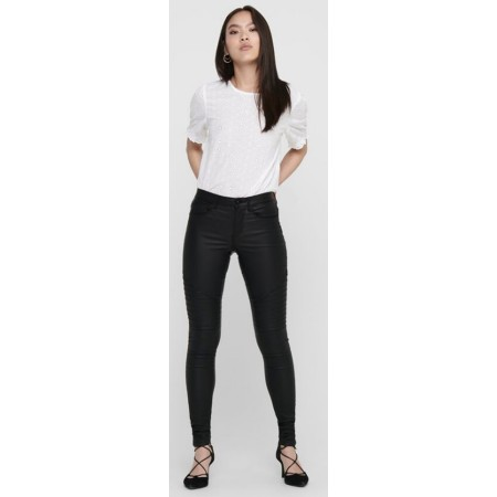 Pantalon Only biker Skinny enduit