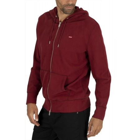 Sweat Zippé Capuche Levi's Bordeaux