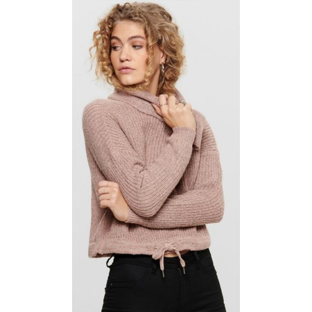 Pull en maille Rollneck Rose Only