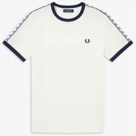 T-shirt rétro Fred Perry Blanc