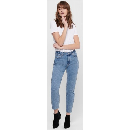 Jeans droit taille haute Only