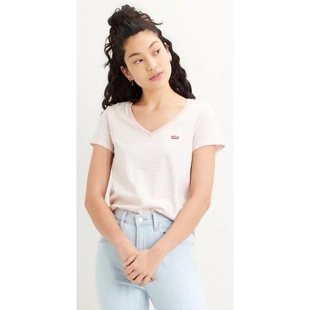 T-Shirt Levi's col V Femme