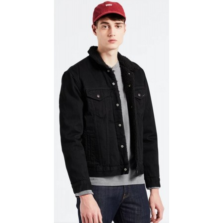 TYPE 3 SHERPA TRUCKER JACKET BLACK