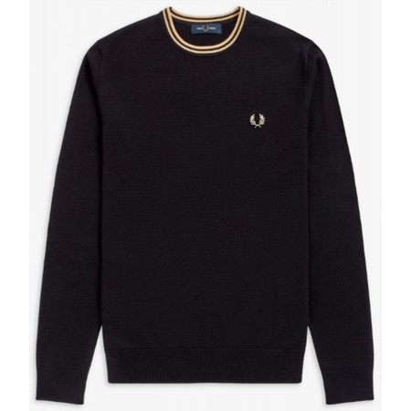 Pull col rond FRED PERRY