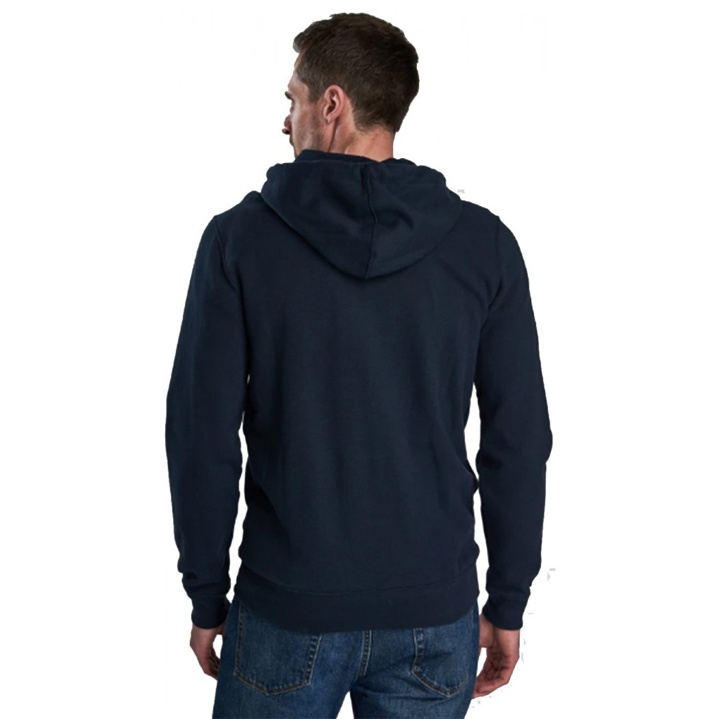 Sweat capuche zippé BARBOUR navy