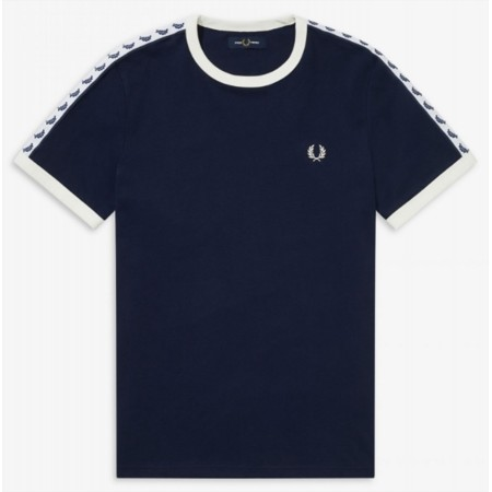 T-shirt rétro Fred Perry Blue