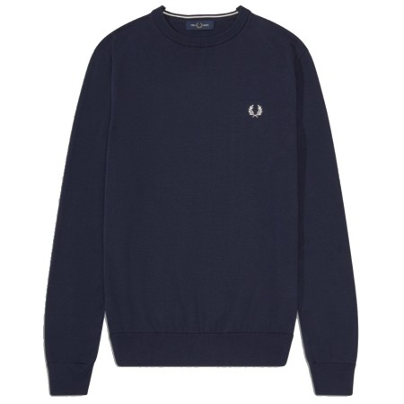 PULL COL ROND FRED PERRY MARINE