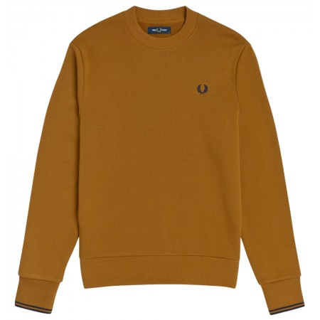 SWEAT FRED PERRY CARAMEL